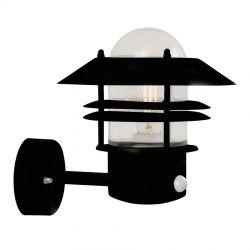 Blokhus udendørslampe m. sensor - Sort - Nordlux
