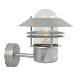 Blokhus udendørslampe m. sensor - Galvaniseret - Nordlux