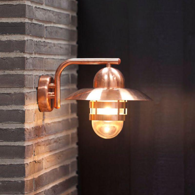 Udendorslamper kobber u2013 Solceller og lysdioder
