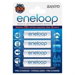 Sanyo Eneloop AA (R06), 4 stk.