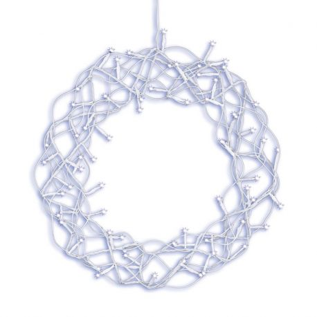 Curly Wreath krans med 72 LED lys - Ø35