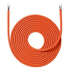 Stofledning - 4 meter - Orange - NielsenLight