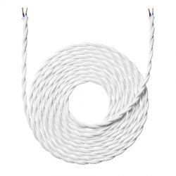 Stofledning - 4 meter - Snoet hvid - NielsenLight