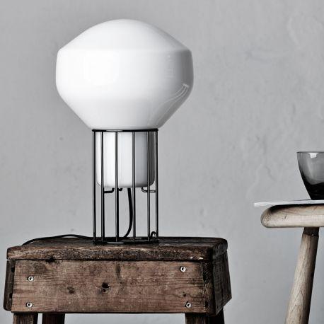 Aérostat 23 bordlampe - Hvid/sort stel - Fabbian