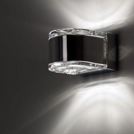 Fabbian Matisse væglampe - Klar/stål