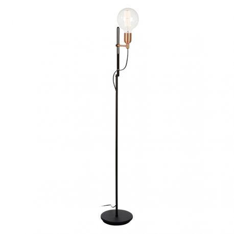 Regal gulvlampe - Sort/kobber - Belid