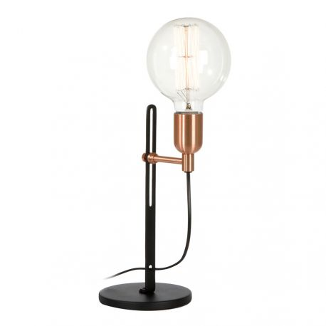 Regal bordlampe - Sort/kobber - Belid