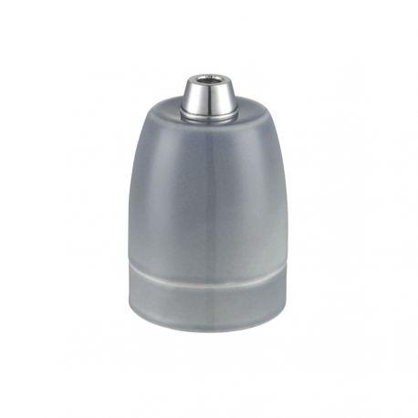 Porcelænsfatning E27 - Grå - Halo Design