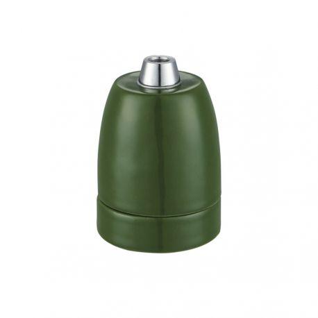 Porcelænsfatning E27 - Grøn - Halo Design