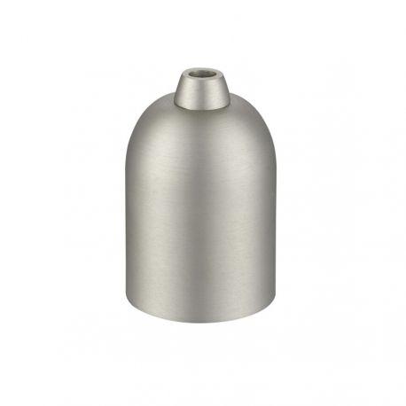 Metalfatning E27 - Børstet stål - Halo Tech Design
