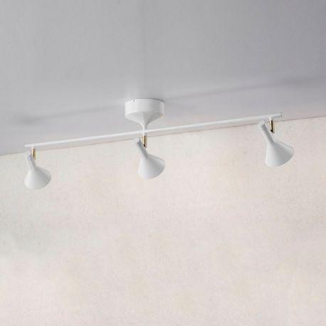 Piccoli skinne m. 3 spots - Blank hvid - Lampekonsulenten