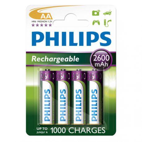 Philips Genopladelige AA batterier - 4 stk.