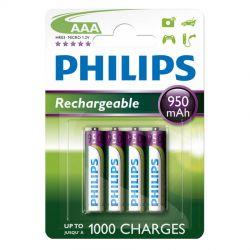 Philips Genopladelige AAA batterier - 4 stk.