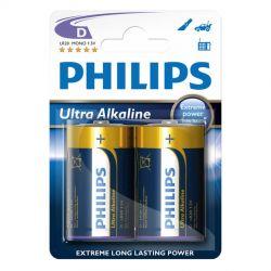 Philips Ultra Alkaline D - 2 stk.