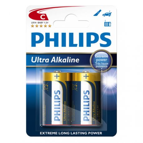 Philips Ultra Alkaline C - 2 stk.