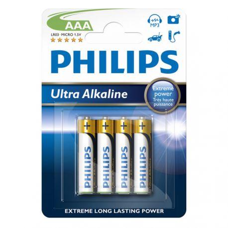 Philips Ultra Alkaline AAA - 4 stk.