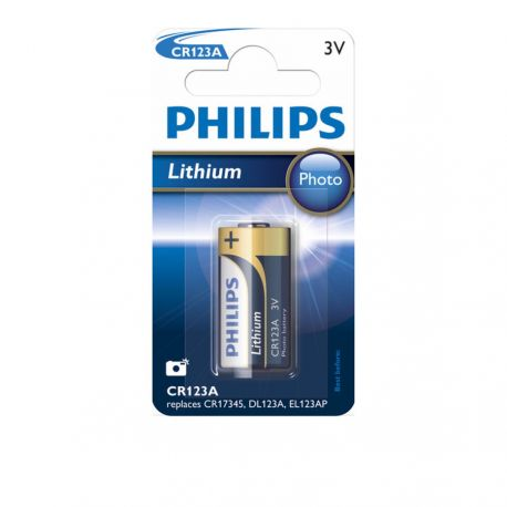 Philips CR123A Lithium Fotobatteri 3V