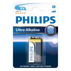 Philips Ultra Alkaline 9V batteri