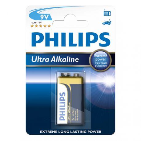 Philips Ultra Alkaline 9V batteri