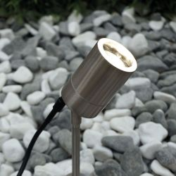 Nordlux Tin havespot m/spyd - Rustfrit stål