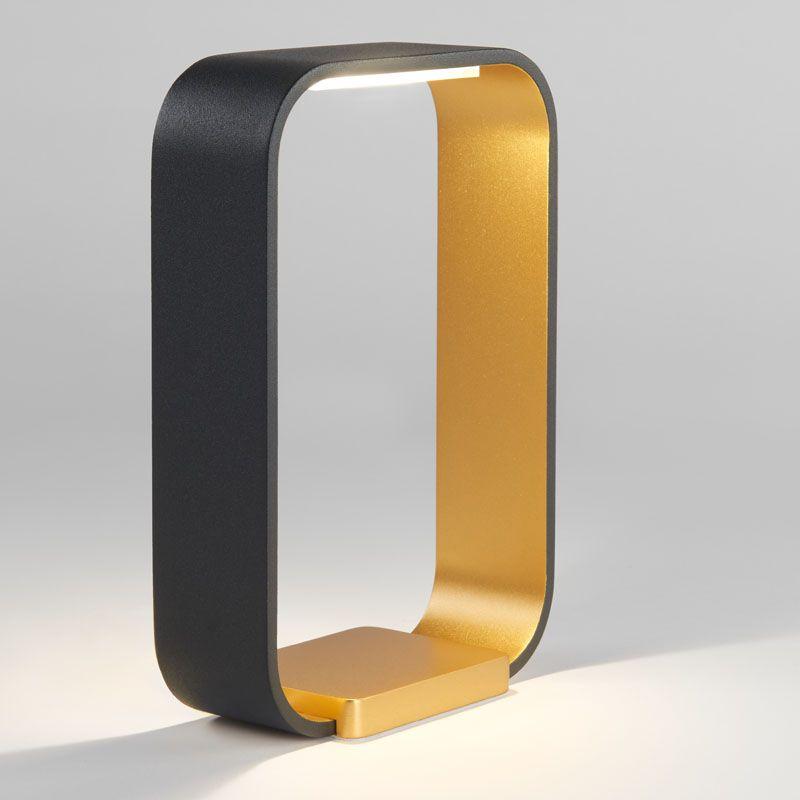 Massivt Code LED bordlampe - Sort/guld - Light-Point KF01