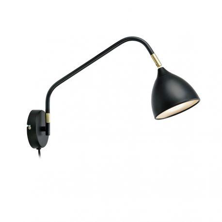 Markslöjd Valencia væglampe - Sort/messing