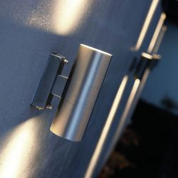 Nordlux Tin væglampe - Rustfrit stål