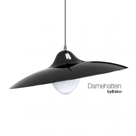 Damehatten - Mat sort - Dyberg Larsen