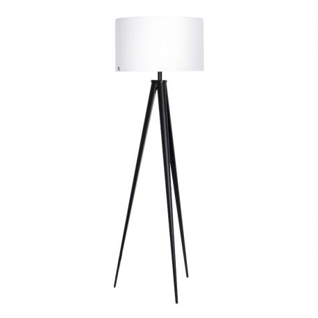 Paso Tri 50 F1 UNI Gulvlampe - Sort med hvid lampeskærm