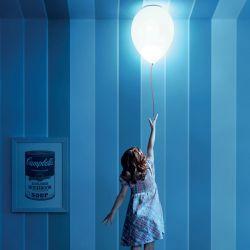 Estiluz Balloon T-3052 Loftlampe - Hvid