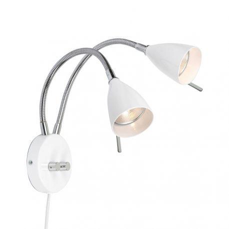 Belid Lotus dobbelt væglampe - Hvid