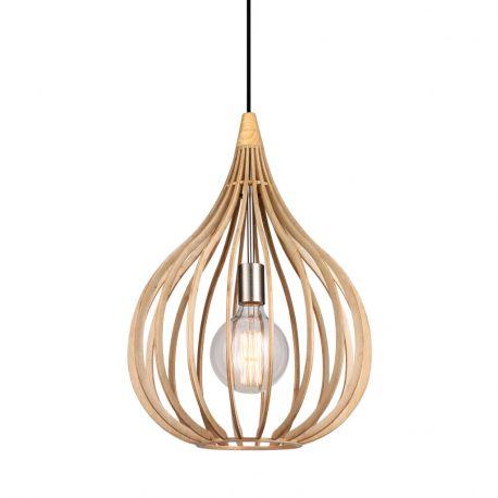 Drops pendel - Træ - Ø38 - El-Light