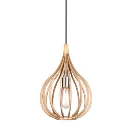 Drops pendel - Træ - Ø30 - El-Light