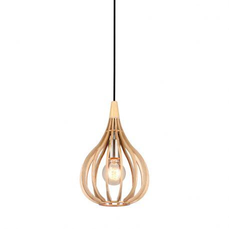 Drops pendel - Træ - Ø23 - El-Light