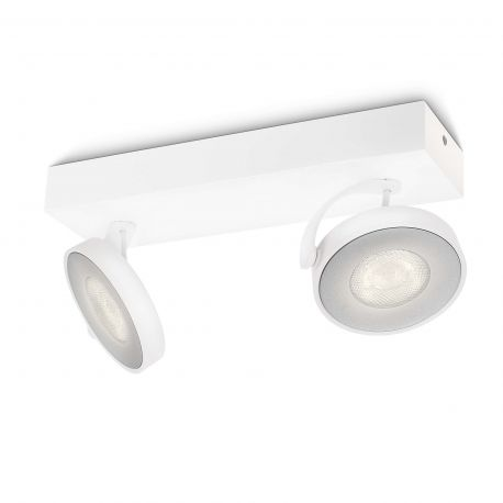Philips Clockwork LED spot 2x5W - Hvid
