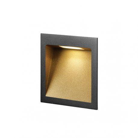 Light-Point Deli 2 indbygningsspot - Sort/guld