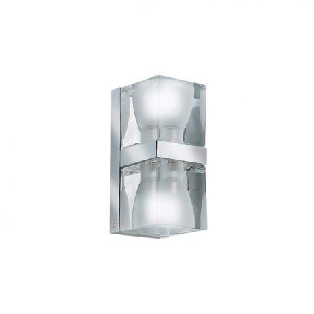 Ice Cube dobbelt væglampe - Klar/krom - Fabbian
