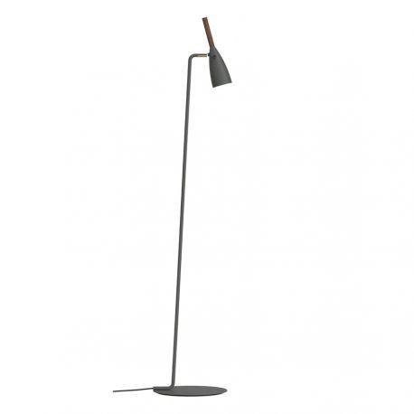 Nordlux Pure gulvlampe - Grå/valnød
