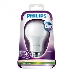 Philips LED Standard 6W (40W) Varm hvid E27