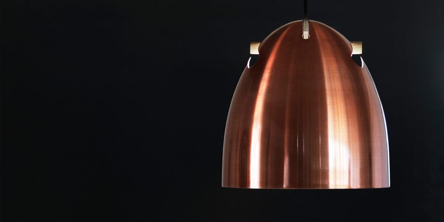 Bell+ lampe i kobber