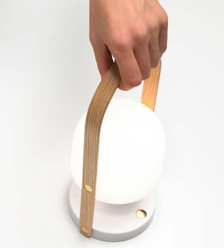 Transportabel designerlampe