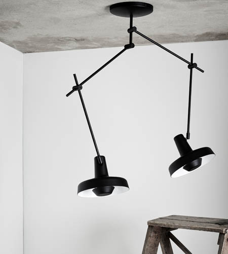 Arigato loftlampe med to skærme