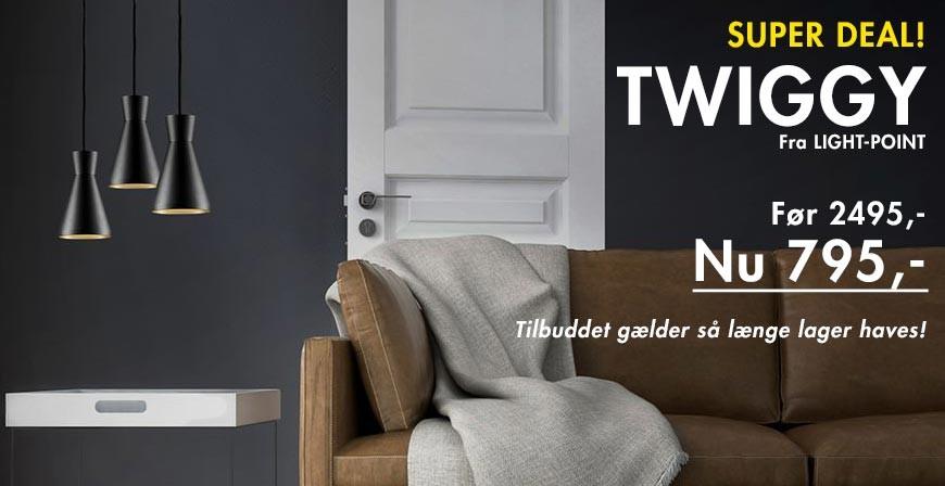 Super Deal! Twiggy S1 pendel fra Light-Point - Spar 1700,-