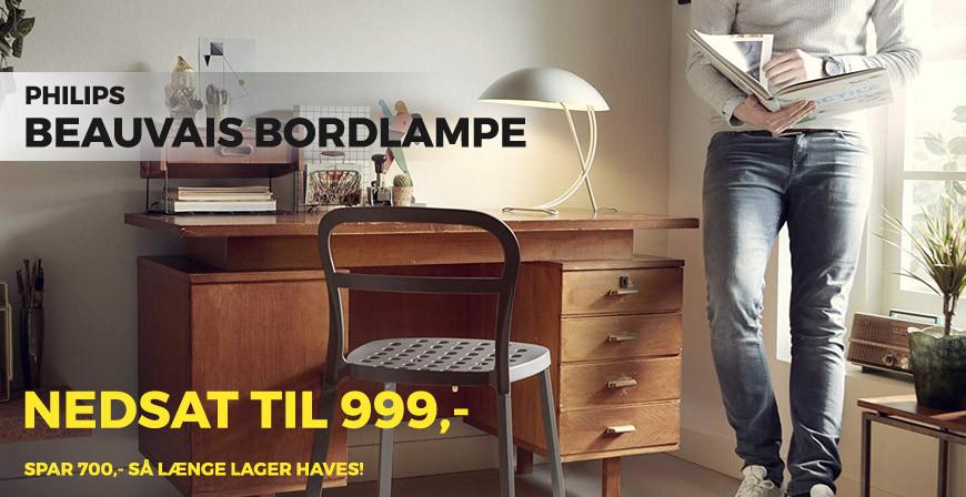 TILBUD! Philips Beauvais bordlampe